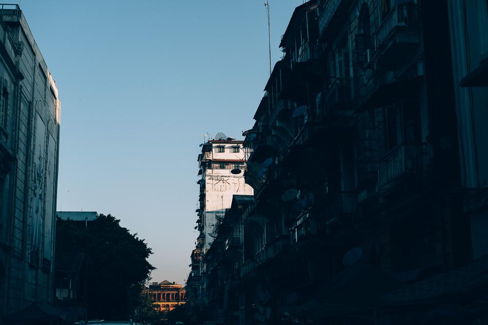 Sunrise, Yangon Downtown, Myanmar - Photographer