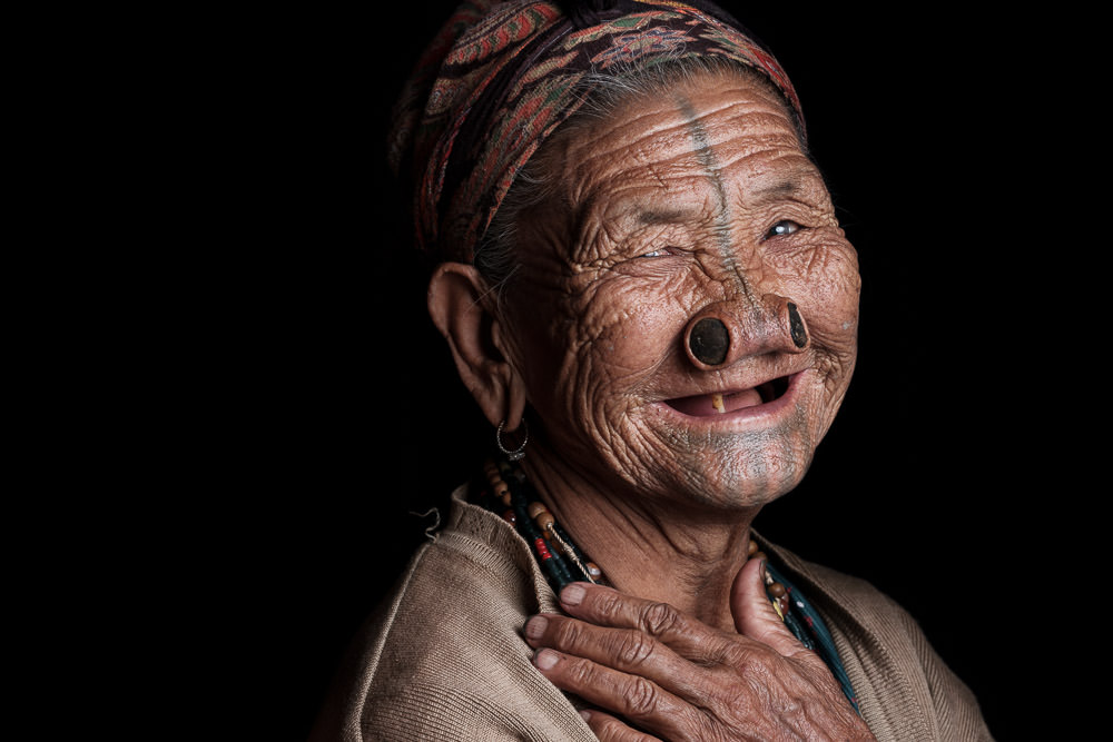 Apatani Tattoo-Faced Woman Tanyang Jayo