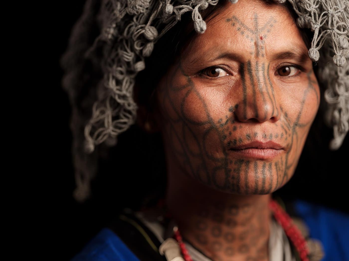 Mun Chin Woman Tattoo - Myanmar