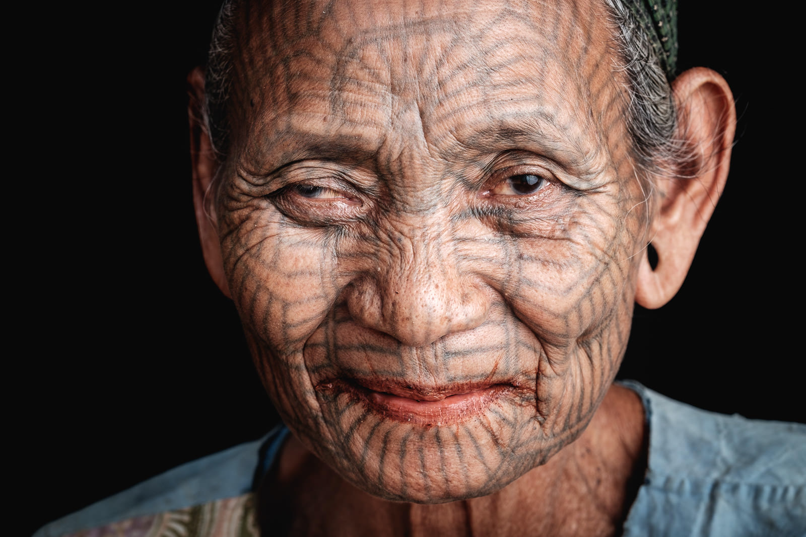 Lai Tu Chin Woman Facial Tattoo