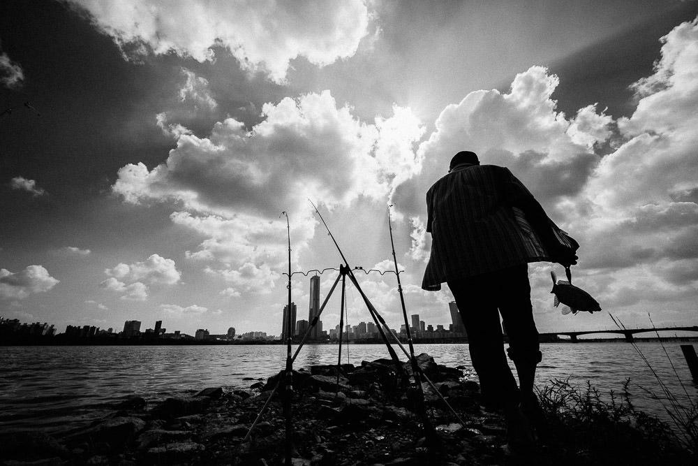 Han River Fisherman, Seoul