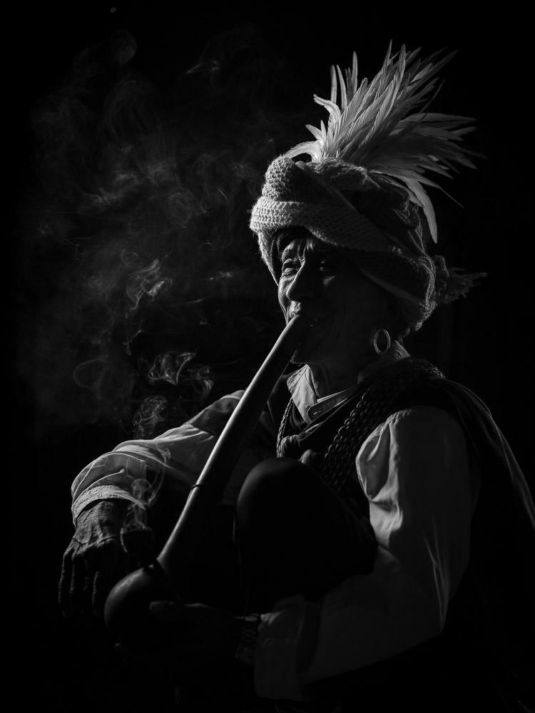 Chin State Pipe Smoking Man