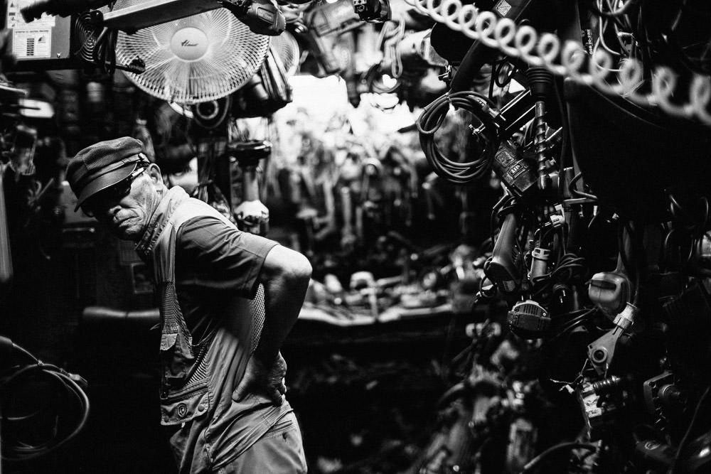 Worker, Euljiro, Seoul, Korea