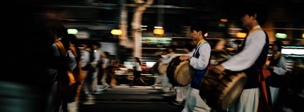 Korean drummers at the Lotus Lantern Festival 2019