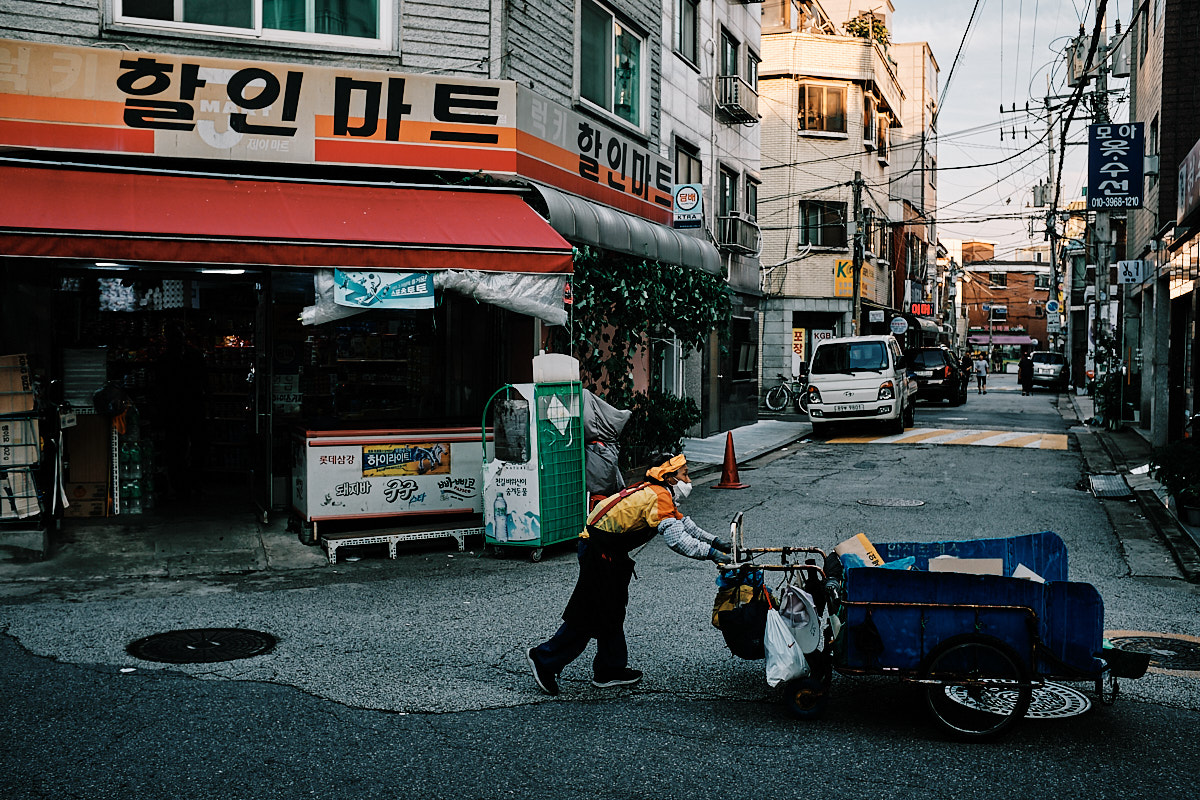 Seoul Street Photography - Garbage Collectors