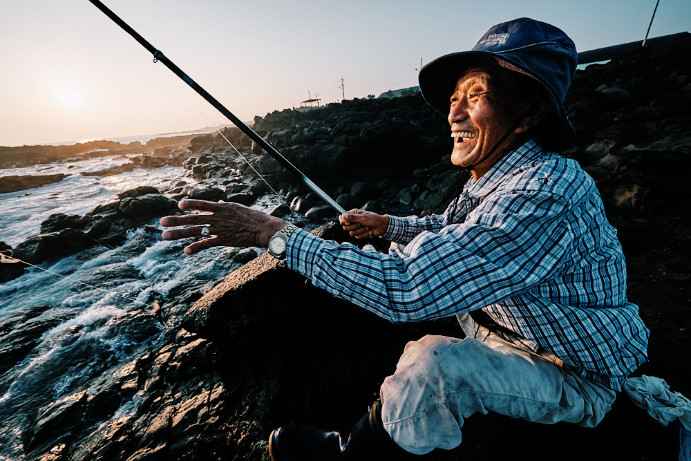 Jeju Island Rock Fishing Portrait Fujifilm XF 8-16mm